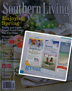 "Inset - Pensacola ad for ""great escapes"" in Southern Living magazine."