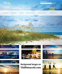 VisitPensacola.com site redesign 2010. Background images.