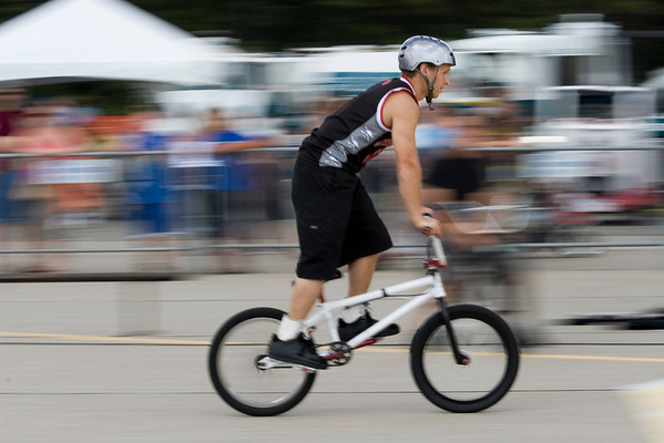 Bicyclist in show.