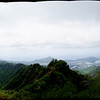 From the end of the kuli'ou'ou ridge trail.  Right side of image smudged by mist on the lens