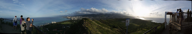 From look out point at Diamond Head, Oahu, Hawaii