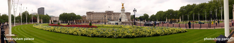 Buckingham Palace - Photoshop CS2 panorama