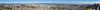 San Francisco from Twin Peaks, March 2015. Panoramic field of view: 197 by 19 degrees. 112.8 megapixels.