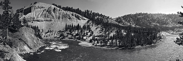 The Yellowstone River at the juncture of Antelope and Tower Creeks.  This image is best printed in a 1x3 aspect ratio.