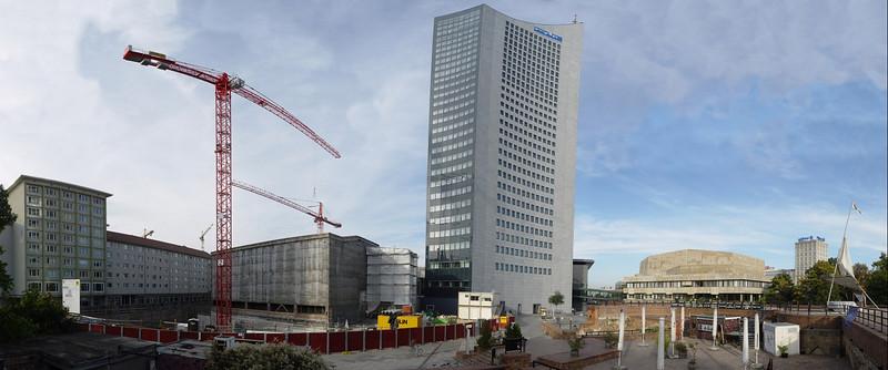 """2005-10-19_06864 <span class=ger>Blick auf die Universitätsbaustelle, den Uniriesen, das Gewandhaus und das Allianzgebäude in Leipzig von der Moritzbastei aus (aus 29 Teilbildern - <a href=""""http://rainforest1155.smugmug.com/gallery/850584/2/41430288/Original"""" target=""""_blank"""">Detailansicht</a>)</span><span class=""""eng"""">View on the construction site of the University of Leipzig, the big <a href=""""http://www.mdr.de"""" target=""""_blank"""" title=""""external link to mdr.de"""">MDR</a> building (local TV station), the Gewandhaus (concert hall) and the <a href=""""http://www.allianz.com"""" target=""""_blank"""" title=""""external link to allianz.com"""">Allianz</a> building (insurrance company) in Leipzig from the <a href=""""http://www.moritzbastei.de"""" target=""""_blank"""" title=""""external link to moritzbastei.de"""">Moritzbastei</a> (student cafe and club) - panorama out of 29 pictures - <a href=""""http://rainforest1155.smugmug.com/gallery/850584/2/41430288/Original"""" target=""""_blank"""">detailed view</a></span>"""