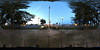 A spherical panorama (360x180 degrees) taken at the north end of Kerman California's Veteran's Plaza Park.