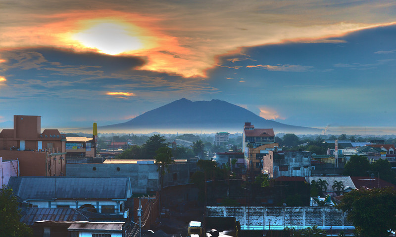 A photo of Mt. Arayat in Angeles City in Philippines.