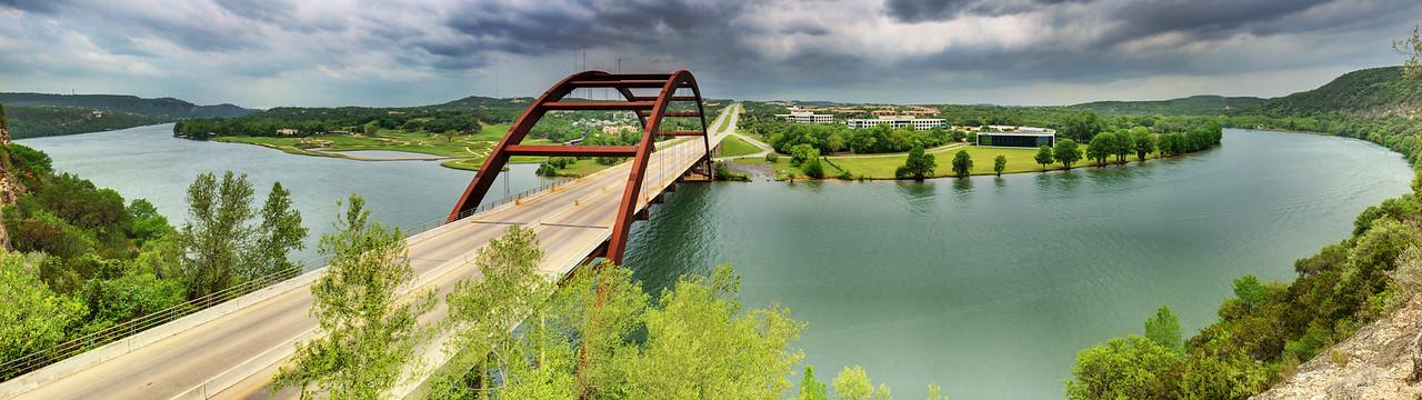 Pennybacker Bridge and Lake Austin