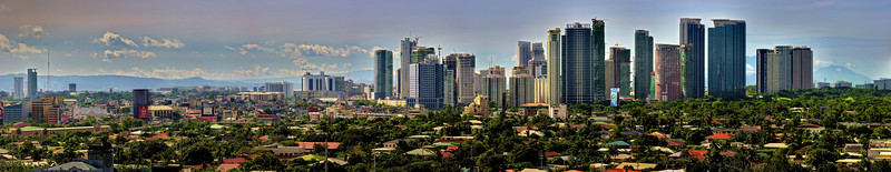 Downtown Makati in the philippines from the rooftop of my hotel.