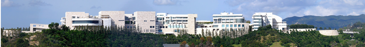 The Getty Center is perched on a ridge, just west of the 405 freeway, overlooking the LA basin.
