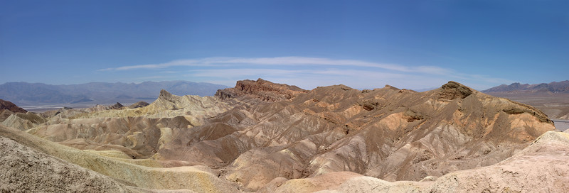 "Zabriskie point panoramic <br /> <br /> This photo is very large and can only be printed by selecting ""panoramic"" in the print options."