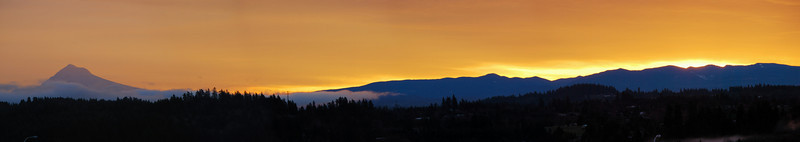 Mt. Hood sunrise <br /> (wide crop)