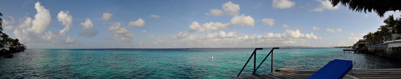View from the pier of the Belmar Hotel in Bonaire, Netherlands Antilles.<br /> November, 2009