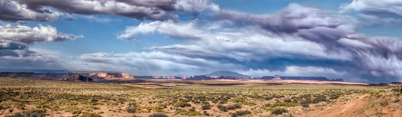 Near Page Arizona, a summer storm passes overhead