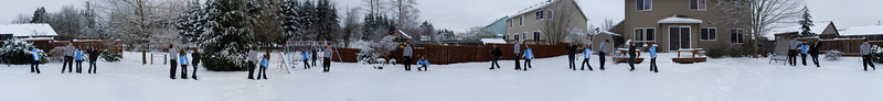 Backyard snow, Dec. 21 2008<br /> A 360 degree shot of my backyard