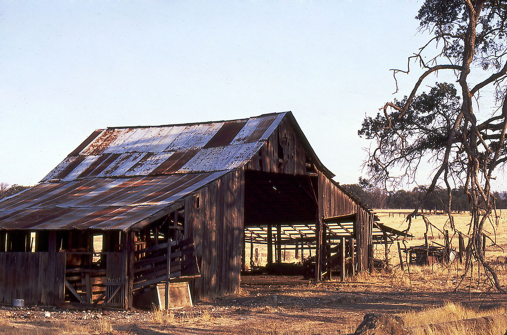 old barn from many years ago