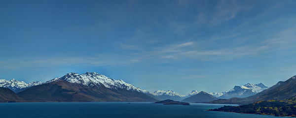 HDR Panorama - between Queenstown and Glenorche, Otago, New Zealand