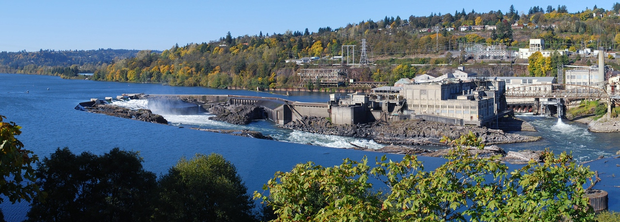 <b>Willamette Falls, Oregon City </b><br> Oct 2008