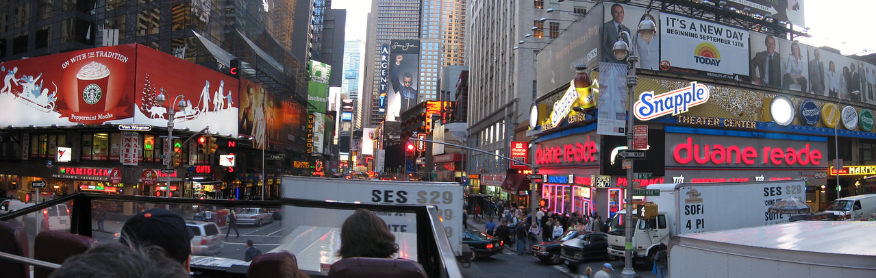 <b>Times Square</b> Picture taken from tour bus