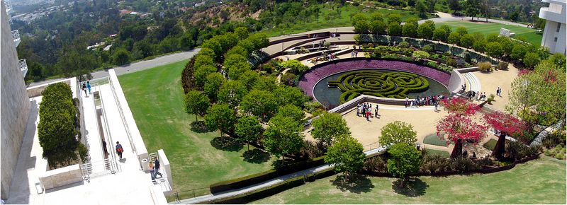 Overlooking the Central Garden/Panorama combining 4 shots.