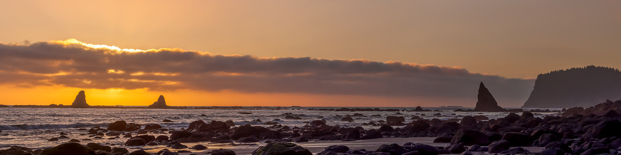 Oil City Beach Sunset Pano