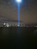 This photo was taken from Jersey City, New Jersey of the Tribute in Light.