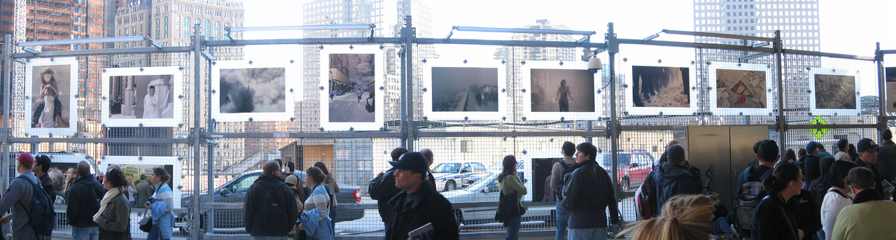 <b>Picture display at Ground Zero, NYC</b><br>November 2006