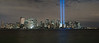 "This photo was taken from Jersey City, New Jersey of the Tribute in Light.<br /> <br />  This photo is very large and can only be printed by selecting ""panoramic"" in the print options."
