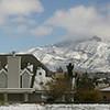 Snow on Franklin Mountains at El Paso