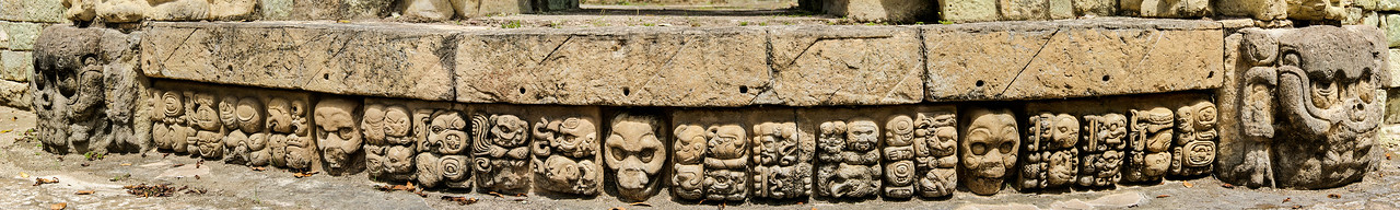 Taken along the base of the Mayan ruins at Copan in Honduras, shot with a Sony Alpha a300 on a Nodal Ninja Head, edited in PT GUI & Photoshop CS5.