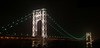 "This photo was taken on Martin Luther King's birthday.  The George Washington Bridge is only illuminated during holidays.   This photo is very large and can only be printed by selecting ""panoramic"" in the print options."