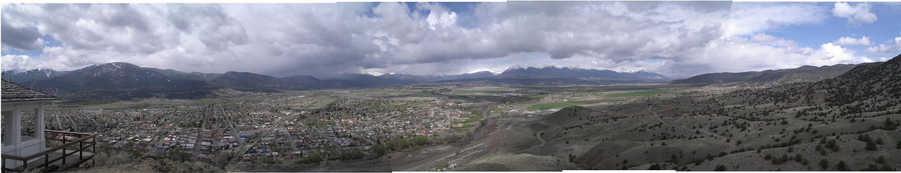 Salida, Colorado from Tenderfoot Hill <BR>