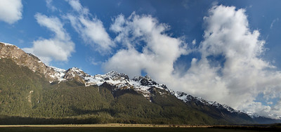 Panorama - between te Anau and Milford Sound