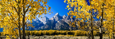 Grand Tetons Panoramic Grand Tetons National Park, Wyoming 大Tetons國家公園,懷俄明州  Other sizes available: 4x12, 5x14, 7x20, 9x24, 11x33, 12x36. Please contact me for prices and method of payment.