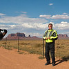 Your intrepid photographer in the Monument Valley.