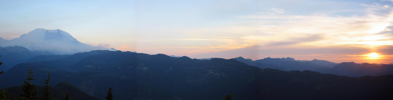 Rainer sunset from Suntop Mtn