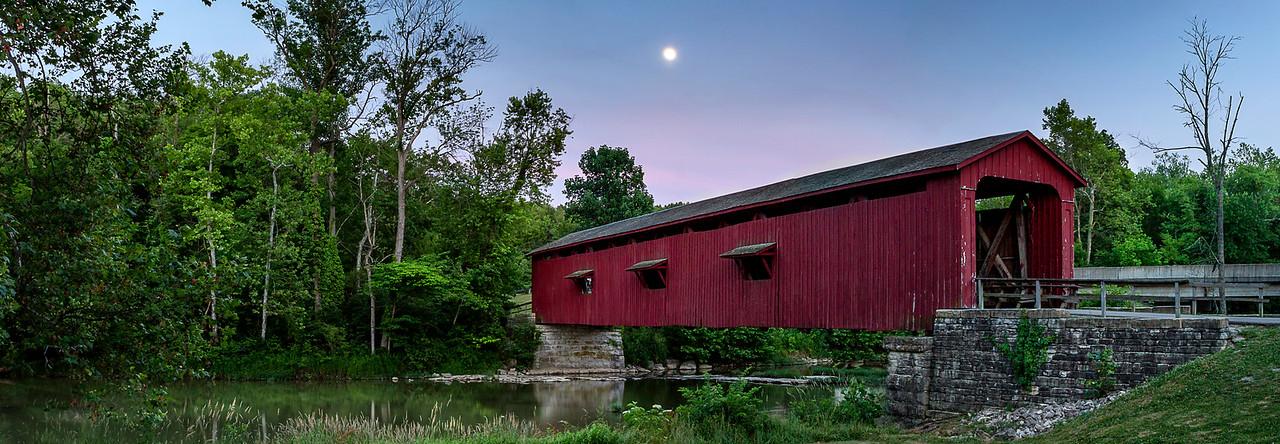 Cataract Falls Covered Bridge - Cloverdale, Indiana