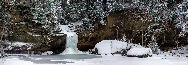 Old Man's Cave - Lower Falls -Hocking Hills State Park