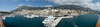<h2>Monte Carlo</h2> I was quite excited when I saw the view that we had from the top deck of the ship.  I figured this was a view that few people get and it was a perfect spot for a panoramic.  I shot this one with the lens at 24mm.  This is a stitch of 7 frames.