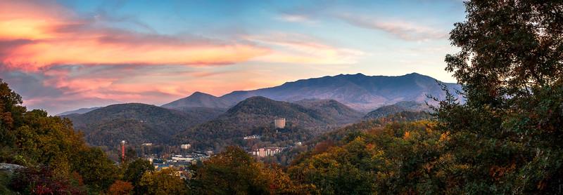 Gatlinburg Sunset - The Great Smoky Mountains National Park