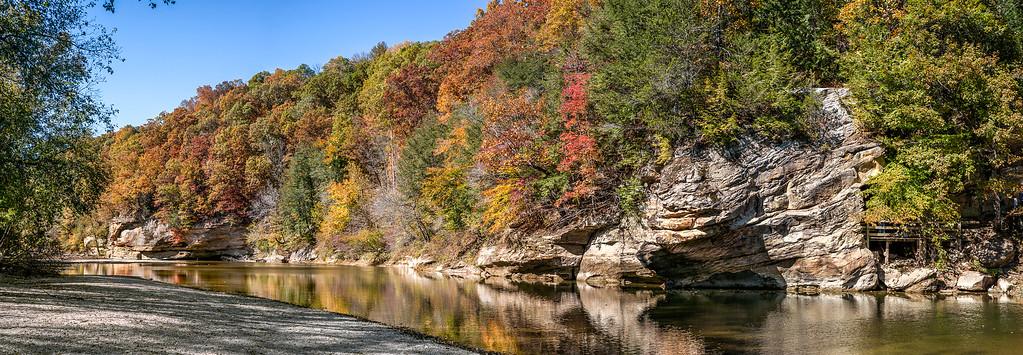 Sugar Creek in Fall Color -  Turkey Run State Park