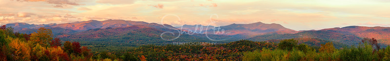 Mountains Autumn Sunset Vista pano