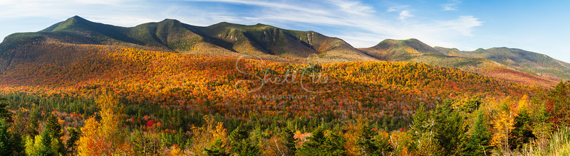 Kancamagus Mountains in Autumn Dapple pano
