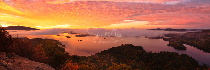Dawn Over Squam Lake pano