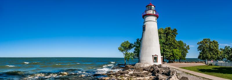 Marblehead Ohio Lighthouse Panoramic