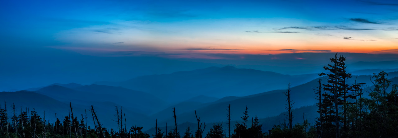 Clingman's Dome - Sunset -  The Great Smoky Mountains National Park