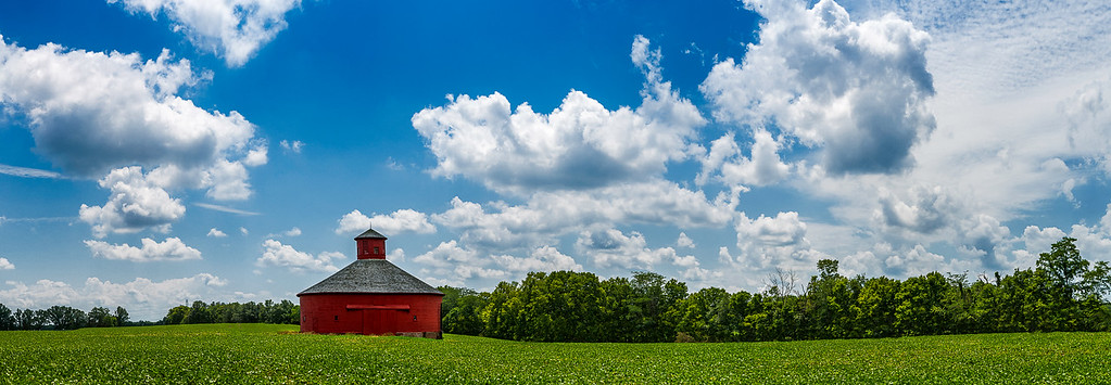 Red Round Barn - Parke County