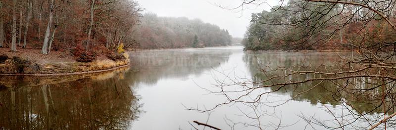 Tronçais, étang de Saloup, panoramique 9 images, f/5,6, 1/80, iso 200, 50 mm