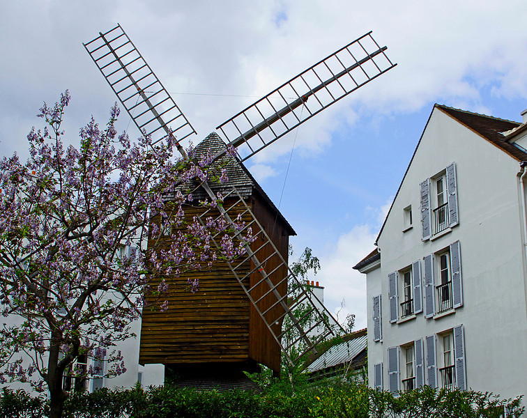 One of few original windmills in Montmatre