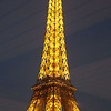 Eiffel Tower at night from Seine cruise.